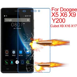 Wholesale X9 Slim - Wholesale-Tempered Glass Screen Protector For Doogee X5 X6 Y200 Cobot X9 X16 X17 P150 Explosion Proof 0.26mm Protection Ultra Slim Film