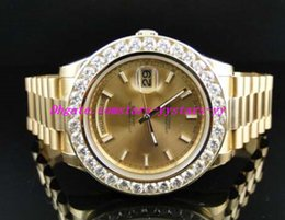 Wholesale Solid Bracelets - Top Quality Luxury Watches Steel Bracelet New Mens II Solid 18 kt 41MM Diamond Watch Gold Dial 8 Ct Mechanical MAN WATCH Wristwatch