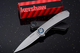 Wholesale Rescue Survival Knives - kershaw 3871 Volt SS Speed Bump Pocket Knife 8Cr13mov Blade Folding knife Camping Hunting Survival Rescue knives EDC tool Drop shipping