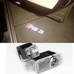 Wholesale Audi Ghost Shadow - 1 x Car LED Laser Logo Light Door Welcome Ghost Shadow Projector Lights For Audi S3 RS3 RS4 RS5 RS6