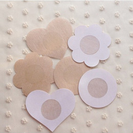 Wholesale Stick Nipples - 300Pcs Breast Petals Flower Sexy Disposable Soft Nipple Covers Tape Stick On Bra Pad Pastie For Women Intimate Accessories