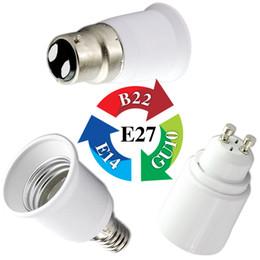 Wholesale Energy Saving Lamp Cfl - Wholesale-E14 Male To MR16  B22  E27 Female   GU10 G9 E17 To E11 Female LED CFL Light Lamp Fitting Bulb Socket Adapter Converter EB3391