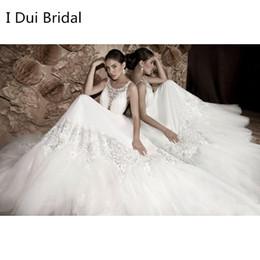 Wholesale Designer Backless Wedding Dress - 2017 Real Photo Backless Wedding Dresses A line Lace Appliqued Beaded Unique Designer Style Factory Custom Made