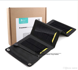 Wholesale Solar Cells 8w - 8W solar charger High efficiency outdoor Folding solar charger bag solar panel charger For Mobilephone Power Bank MP3 4 Free ship.