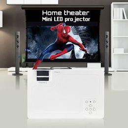 Dlp proiettore marche online-Wholesale- 2016 marca CRE X1600 mini proiettore Home Theater Video LCD TV cinema piCO HDMI portatile fULi hD 1080P LED Proyector beamer