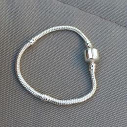Canada Authenic 925 Sterling argent 17 cm-23 cm Logo Avec Couronne Pour Pandora Fermoir Style Bracelet DIY Bijoux composant livraison gratuite supplier free style bracelets Offre
