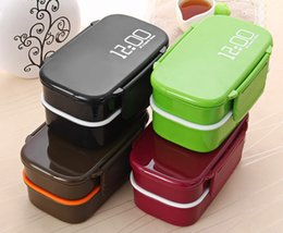 Wholesale Double Fork - Eco-friendly Japan Style Double Tier Dinnerware Set PP Cute Meal Box Tableware Microwave Oven Bento Lunch Container Kitchen