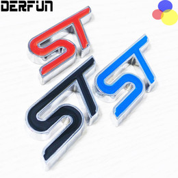 Wholesale Ford Focus St - Metal 3D ST Logo Chrome Refitting Styling Car Emblem Badge Auto Exterior Decal 3D Sticker Emblem for Ford Focus ST Mondeo