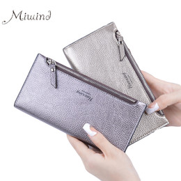 Wholesale woman slim card holder - Wholesale- 2017 Designer Zipper Women Leather Slim Long Wallet Female Purse Clutch Thin Wristlet Phone Coin Credit Card Holder Dollar Price