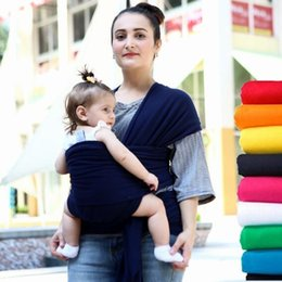 Wholesale Pouch Baby Sling Carrier - Baby Wrap Carrier Infant Breastfeed Gear Sling Carrier Backpack Pouch Breastfeeding Hipseat Newborn Strollers Carrier Sling 10pcs KKA1905