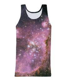 Wholesale Galaxy Stars Shirt - Wholesale- RuiYi Sexy 3 galaxy Tank Top amazing galaxy star 3d print Summer Style Vest Jersey Shirt For Women Men
