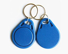 Wholesale Cheapest Price Ring - Cheapest Factory price make Best cool TK4100 125khz 100pcs lot ISO11785 ABS RFID custom key Fob Ring tags