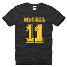 Camisetas hombre adolescente online-Moda Teenwolf Teen Wolf Camisetas Hombre Laccrosse Scott McCall 11 camiseta estilo del verano de manga corta camiseta SL-183