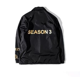 Wholesale Life Jackets Pockets - YEEUS Jackets SEASON High Quality Kanye West Men Women 1:1 Baseball Life of Pablo Windbreaker Trasher Y-3 Hoodie Bomber Jacket