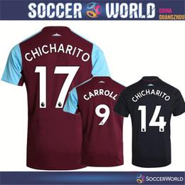 Wholesale Quality Ham - New 17-18 season WestHam United soccer jerseys west Ham best quality CARROLL CHICHARITO NOBLE soccer shirts