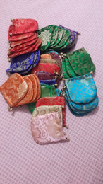 Wholesale Wholesale Brocade Bags - Wholesale 100 pcs lot Silk satin brocade jewelry bags 12cm*12cm