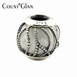 Wholesale Diy Charms - 2016 Autumn Jewelry Collection Intertwining Radiance Clear CZ Beads Fits Pandora Charms Bracelets DIY Beads For Jewelry Making