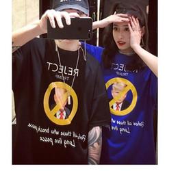 Wholesale T Shirt Women Donald - World peace prohibition Donald John Trump Round neck great quality women men t shirt man printed t-shirt tops Tees