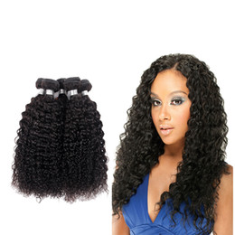 Wholesale Tight Kinky Curly Hair Virgin - 7A grade Brazilian Afro Kinky Curly Virgin Hair Weave Bundles 4 PC Human Hair Extensions Double Weft Neat and Tight Can Be Dyed