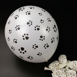 Wholesale Balloons Latex Printing - 12 Inch 2.8g Paw Printed Balloon Latex balloon Party Supplies Birthday Party Decoration Pack of 50 Free shipping