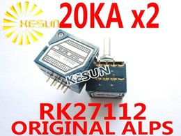 Wholesale Control Potentiometer - Wholesale- RK27112 20KAx2 A20K ORIGINAL ALPS RK271 27type 6Pin 25mm Volume Control Potentiometer Enthusiast Level x 2PCS FREE SHIPPING