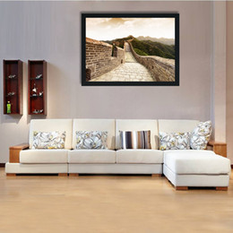 Wholesale Modern Art Canvas China - Modern home decoration painting, wall art painting, canvas oil painting, China Great Wall, suitable for living room.Bedroom, kitchen adornme
