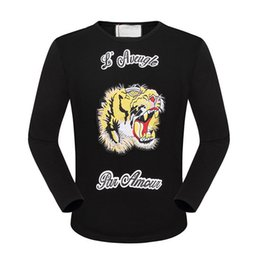 Wholesale Leopard Sweatshirts Men Clothing - 2015 New Leopard Embroidery Print Autumn Winter Tracksuits Long Sleeve Cotton Sweatshirt Casual Slim Jogging Clothing