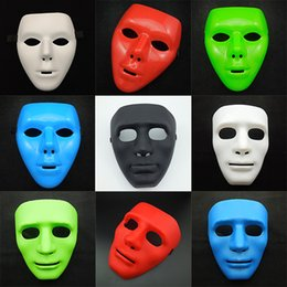 Wholesale Masquerade Masks Blank White - Face Sheet Mask Theatrical blank Masks Mardi Gras Masks Costume Face Costume Full Face Simple Design Masquerade Party Mask White