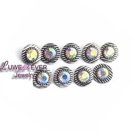Wholesale Hooks Sale - Hot sale Flower 08 12mm Snap Jewelry Rhinestone Metal Snap Buttons Fit 12mm Snap bracelets Earrings necklace For women