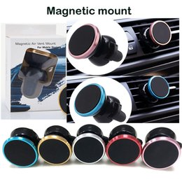 Wholesale Vent Tablet Mount - Universal Air Vent Magnetic Car Mount Holder for Cell Phones and Mini Tablets with Swift-Snap Air outlet Mobile Phone Rack alloy car Holders