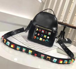 Wholesale Green Glitter Bag - 2017 women genuine leather backpack Fashion tote shoulder bags laptop school travel handbag mochilas escolar bolsa feminina crossbody
