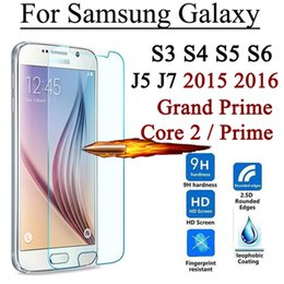 Wholesale Protector For Galaxy S3 - Screen Protector Tempered Glass For Samsung Galaxy Grand Prime Core 2 S3 S4 S5 S6 J5 J5008 J7 J7008 2015 J1 mini 2016 J7 Max A8 Plus 2018