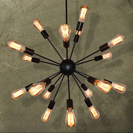 Wholesale Works Suspension - Wrought iron chandelier Telescopic pendant lamp Restaurant bar bedroom Lamps Industrial Cafe suspension luminaires bar edison pendant lamps
