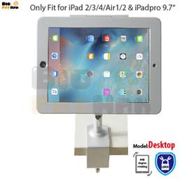 Suporte para ar on-line-tablet suporte de montagem para ipad 2 3 4 air pro9.7 stand alumínio metal case stand de segurança desktop desktop de segurança titular multi-ângulo de rotação