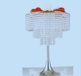 Wholesale Candelabra Style Wedding - new style High quality mental silver crystal wedding candelabra for wedding party&hotel decoration