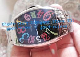 Wholesale steel butterfly bracelets - Top Quality Men's Watch Automatic Black Dial Crazy Mens Tonneau Full Stainless Steel Bracelet Big Watches Men Fm Sports Wristwatches