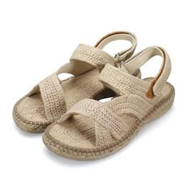 Wholesale Chinese Sandals - Chinese Art Work Handmade Antibacterial Hemp Shoes Sweat Absorbent for Deodorant Anti-foot Khan Feet Sandals