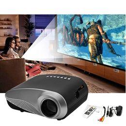 Wholesale Ratio Digital - H60 Mini LCD Projector 60 Lumens 480 x 320 Resolution 16:9 Aspect Ratio With HDMI VGA IR USB SD Card DC Headset Slot +B