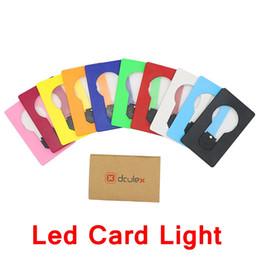 Edison2011 LED Cartão de Luz Luzes Noturnas Luzes Portáteis Decoração de Mesa Lâmpada Ultra Fino Fácil de Transportar Navio Livre de