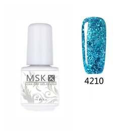 Wholesale Diamond Glitter Nail Art - Wholesale-MSK Gel polish 50 color Diamond Glitter Soak off UV Led Gel Nail Polish Nail art 5ml 4210