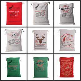 glitterband großhandel rot Rabatt 2017 weihnachtsgeschenk taschen große organische schwere tasche santa sack kordelzug mit rentieren weihnachtsmann sack taschen für kinder
