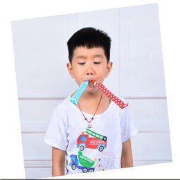 Wholesale Model Paper Toy - NEW Arrival Party Supplies Cheering Toys paper Whistle Cartoon Whistle Lovely Model survival whistle Child favors Party Noise Maker