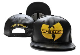 Wholesale Wu Tang Hats - 2017 hot sale black wu tang snapback hats wutang baseball cap for men women summer spring winter fashion street hats TY