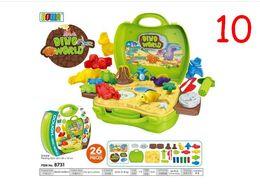 Wholesale Medicine Plastic - 36PCS Children Play Toy Plastic Tableware Kitchen Suitcase Simulation Medicine Kit box Junior Builder Tools Set 12 styles ABS Environmetal
