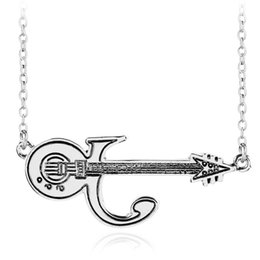 Wholesale European Statement - Guitar Statement Necklace Alloy Pendant Necklace European And American Ornaments Personality Originality New Fashion Women Stainless Steel N