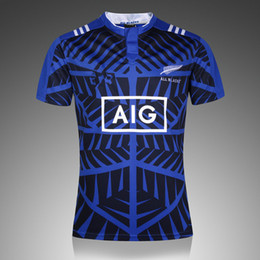 Wholesale Man Heats - Free shipping!Rugby Union 2015 Rugby World Cup New Zealand All Blacks jersey High-temperature heat transfer printing jersey Rugby jersey