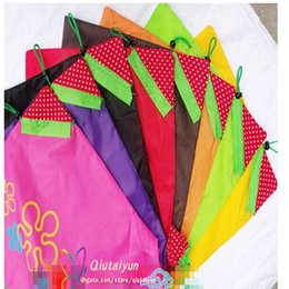 Wholesale Strawberry Fabric Wholesale - Nylon Foldable Shopping Bags 11 colors Reusable shopping bag Eco-Friendly Storage Bags Tote Bags Fold the strawberry bag H396