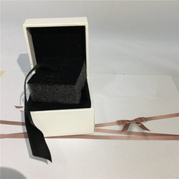 Wholesale Pendant Earring Boxes - Flat Sponge Inside White Paper Box European Style for Pandora Ring Earrings Pendant Dangle Size 5X5X4cm
