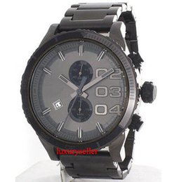Wholesale Double Dial Watches - New 4314 Double Down Grey Dial Grey Ion Plated Chronograph Men's Watch