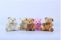 Wholesale Gold Coins 24k - 2017 new plush bear ragdoll 10cm teddy bear Mobile phone bag key chain Small pendant free shipping